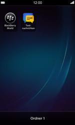 BlackBerry Z10 - Startanleitung - Personalisieren der Startseite - Schritt 8