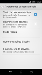 Sony Xpéria E3 - Aller plus loin - Désactiver les données à l'étranger - Étape 7