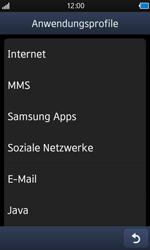 Samsung Wave - MMS - Manuelle Konfiguration - 17 / 21