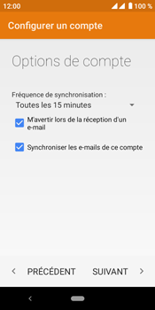 Crosscall Core M4 - E-mails - Ajouter ou modifier un compte e-mail - Étape 22