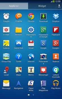 Samsung Galaxy Tab 3 8-0 LTE - Operazioni iniziali - Installazione di widget e applicazioni nella schermata iniziale - Fase 6