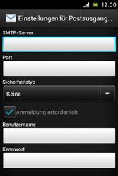 Sony Xperia Miro - E-Mail - Konto einrichten - Schritt 10