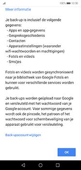 Huawei P20 - Android Pie - toestel resetten - back-up maken met jouw account - stap 13