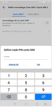 Huawei P20 Pro - Android Pie - Prise en main - Comment activer un code SIM - Étape 10