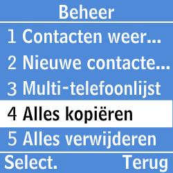 Samsung GT-E1200i - Contacten en data - Contacten kopiëren van SIM naar toestel - Stap 10