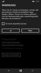 Microsoft Lumia 535 - Fehlerbehebung - Handy zurücksetzen - Schritt 8