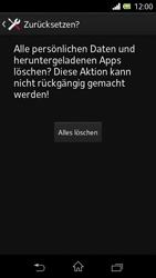 Sony Xperia L - Fehlerbehebung - Handy zurücksetzen - 9 / 11