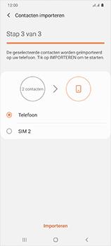 Samsung Galaxy S20 Ultra 5G Dual SIM eSIM SM-G988B - Contacten en data - Contacten kopiëren van SIM naar toestel - Stap 12