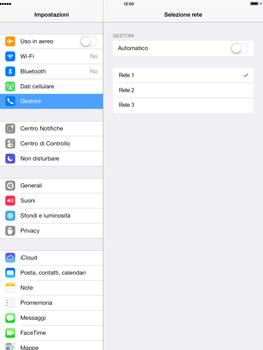 Apple iPad Air - Rete - Selezione manuale della rete - Fase 7