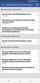 Samsung Galaxy S8 Plus - Datenschutz und Sicherheit - Datenschutzeinstellungen von Facebook ändern - 0 / 0