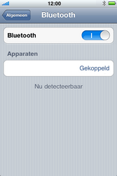 Apple iPhone 3G S met iOS 5 - bluetooth - headset, carkit verbinding - stap 8