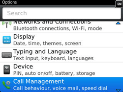 BlackBerry 9320 Curve - Voicemail - Manual configuration - Step 4