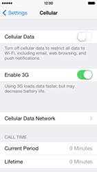 Apple iPhone 5c - Internet and data roaming - How to check if data-connectivity is enabled - Step 4