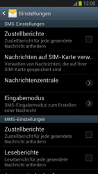 Samsung Galaxy S III - OS 4-1 JB - SMS - Manuelle Konfiguration - 2 / 2