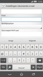 Sony D6503 Xperia Z2 - E-mail - Handmatig instellen - Stap 10