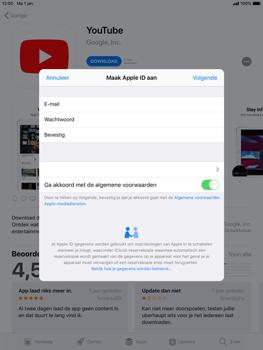 Apple ipad-mini-4-met-ios-12-model-a1550 - Applicaties - Account aanmaken - Stap 11
