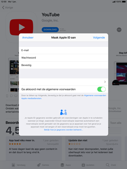 Apple iPad mini 4 iOS 12 - Applicaties - Account instellen - Stap 11