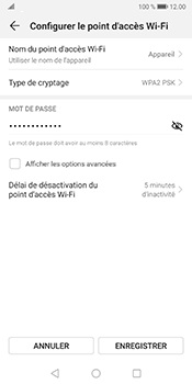 Huawei Mate 10 Pro - Android Pie - WiFi - Comment activer un point d'accès WiFi - Étape 7
