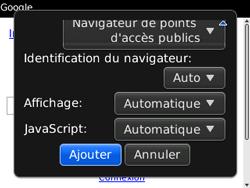 BlackBerry 9300 Curve 3G - Internet - Navigation sur Internet - Étape 7