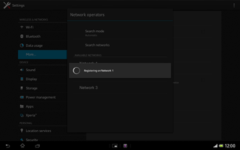 Sony Xperia Tablet Z LTE - Network - Manual network selection - Step 9