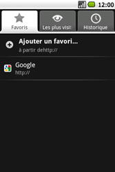 Samsung I5700 Galaxy Spica - Internet - navigation sur Internet - Étape 14