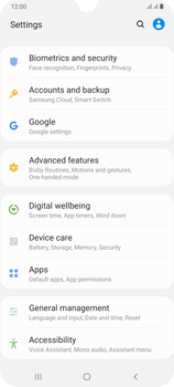 Samsung Galaxy A70 - Data - Create a backup with your account - Step 4