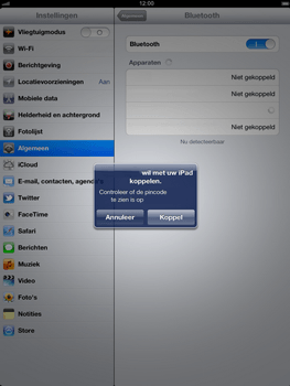 Apple The New iPad - Bluetooth - headset, carkit verbinding - Stap 8