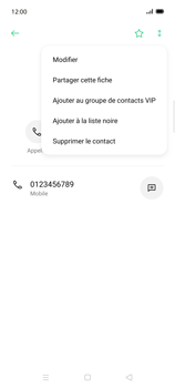 Oppo Find X2 Lite - Contact, Appels, SMS/MMS - Ajouter un contact - Étape 9
