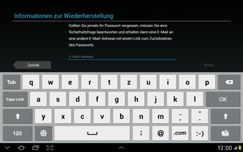 Samsung Galaxy Tab 2 10.1 - Apps - Einrichten des App Stores - Schritt 9