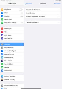 Apple iPad Pro 10.5 (1st gen) - iPadOS 13 - Startanleitung - So fügen Sie eine Tastatursprache hinzu - Schritt 8