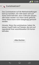 Sony Xperia E1 - Fehlerbehebung - Handy zurücksetzen - Schritt 9