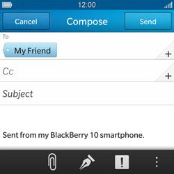 BlackBerry Q10 - E-mail - Sending emails - Step 9