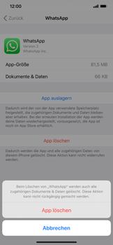 Apple iPhone XS Max - iOS 13 - Apps - Eine App deinstallieren - Schritt 7