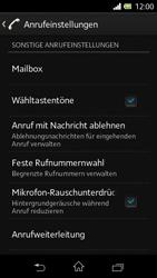 Sony Xperia L - Anrufe - Rufumleitungen setzen und löschen - 5 / 9