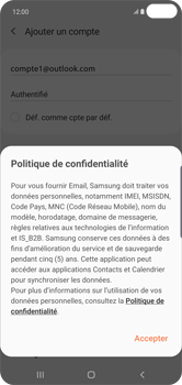 Samsung Galaxy S10 Plus - E-mail - 032c. Email wizard - Outlook - Étape 13