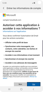 Samsung Galaxy S10e - E-mail - 032c. Email wizard - Outlook - Étape 9