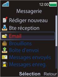 Sony W595 - E-mail - Configuration manuelle - Étape 4