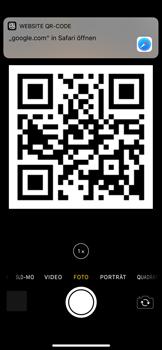 Apple iPhone X - iOS 11 - Kamera – Sofort-QR-Code - 7 / 8