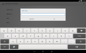 Sony Xperia Tablet Z2 LTE - Internet - Manuelle Konfiguration - Schritt 13