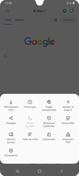 Samsung Galaxy A31 - Internet et connexion - Naviguer sur internet - Étape 9