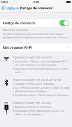 Apple iPhone 6 iOS 8 - Internet et connexion - Partager votre connexion en Wi-Fi - Étape 9