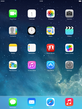 Apple iPad mini retina - Applications - setting up the application store - Step 1