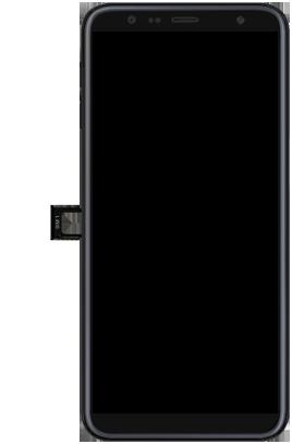 Samsung Galaxy J6 Plus - Toestel - simkaart plaatsen - Stap 3