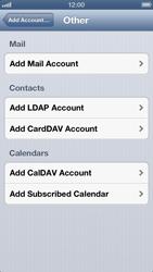 Apple iPhone 5 - E-mail - manual configuration - Step 10