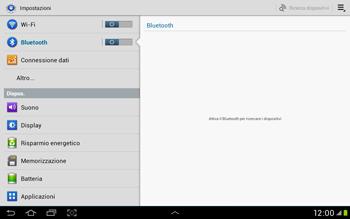 Samsung Galaxy Tab 2 10.1 - Bluetooth - Collegamento dei dispositivi - Fase 5