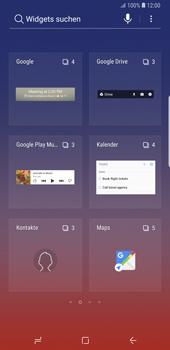 Samsung Galaxy Note9 - Startanleitung - Installieren von Widgets und Apps auf der Startseite - Schritt 4