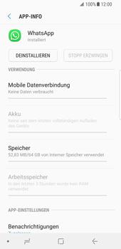 Samsung Galaxy S8 - Android Oreo - Apps - Eine App deinstallieren - Schritt 6