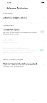 Oppo Find X2 - Gerät - Zurücksetzen auf die Werkseinstellungen - Schritt 6