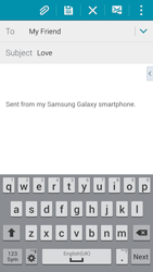 Samsung G850F Galaxy Alpha - E-mail - Sending emails - Step 9