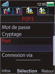 Sony W595 - E-mail - Configuration manuelle - Étape 14